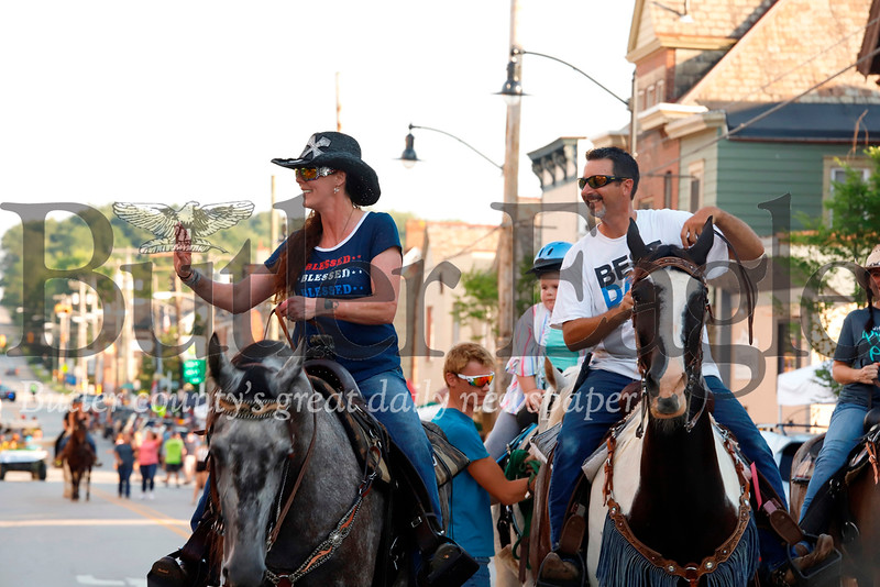 Form medeival clad equestrians to cowboys and carriages, horse enthusiasts of all sorts took to the streets of Zelienople for the town's annual Horse Parade. Seb Foltz/Butler Eagle
