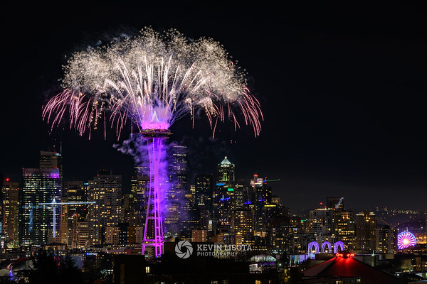 Space Needle New Year's Fireworks 2019