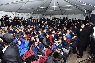 Motzai Shabbos - Rally and Ohel