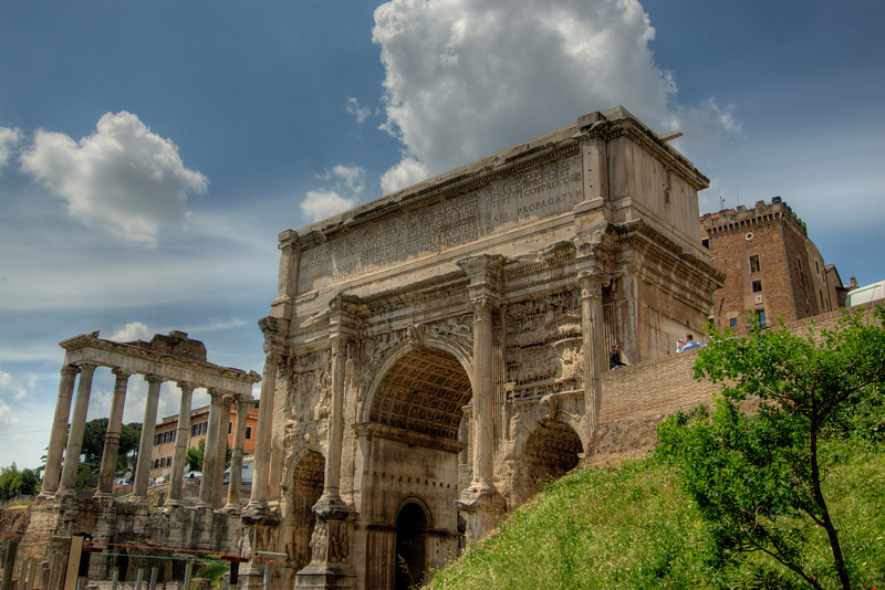 Arch of Titus in the Roman Forum - Rome, Italy