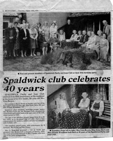 Darby and Joan club Provided by Elizabeth Smith