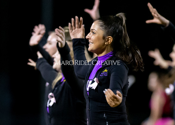 Broughton varsity football vs Cardinal Gibbons. Band and Dance Team Senior Night. October 25, 2019. D4S_1883