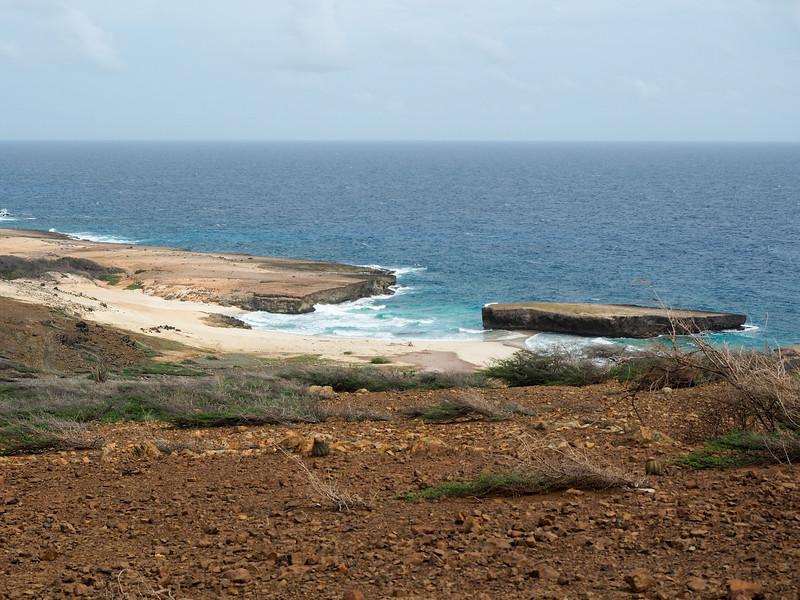 Aruba coastline in Arikok National Park