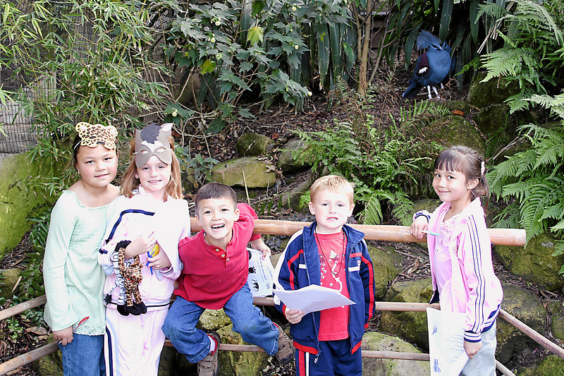 Alanna, Sydeny, Eli, Christopher and Sierra at Alanna and Jaison's birthday party at the Santa Barbara Zoo