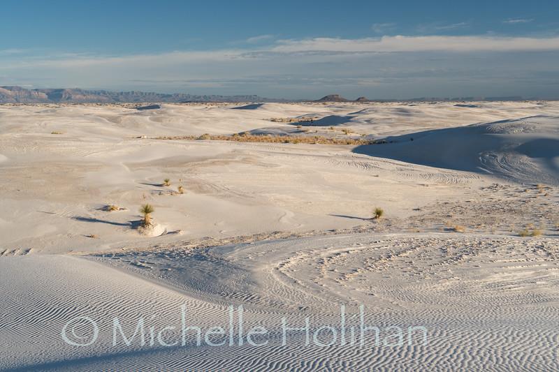 Dusk in the backcountry of White Sands National park