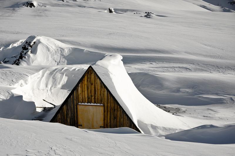 Trapper's hut - Rejsehus Vimmelskaftet, Fleming Fjord, North-East Greenland