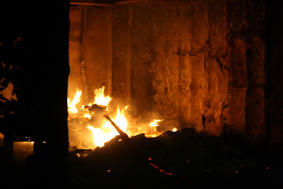 Dumpster Fire, Behind Koch's Turkey Farm, Lewistown Valley, Tamaqua (2-24-2012)