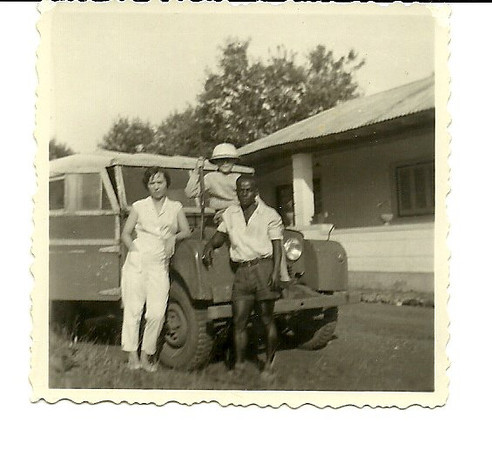 Luxinene, 1962   Maria Valentina Neto, filho Luis e ajudante