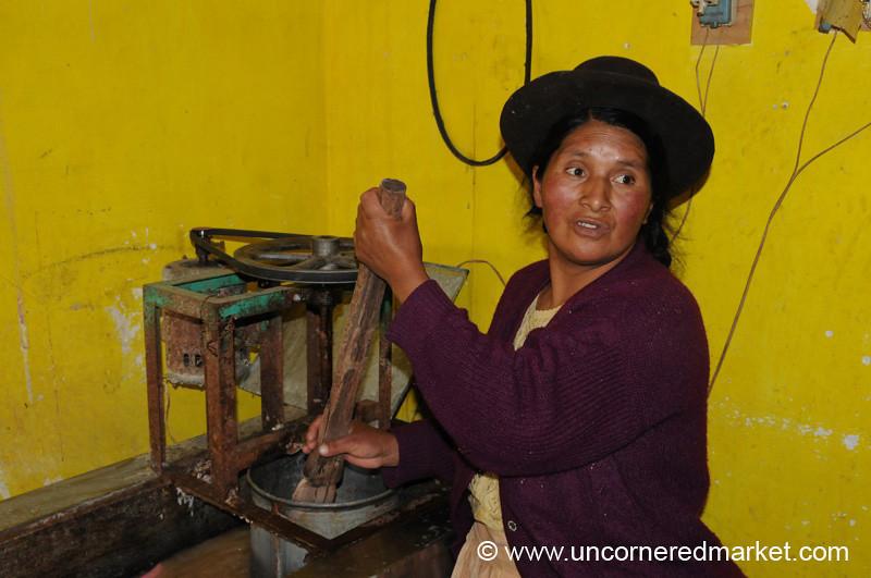Making Ice Cream - Yauli, Peru
