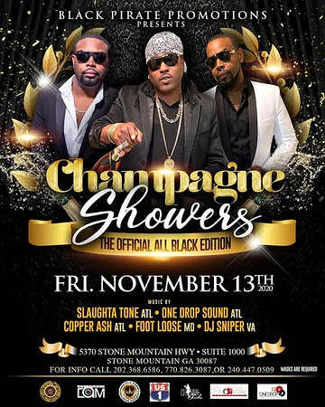 CHAMPAGNE SHOWERS THE OFFICIAL ALL BLACK EDITION