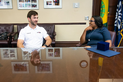 Mayor Welcomes Nascar Driver Daniel Suarez
