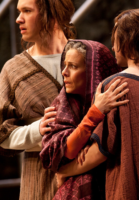 ". Soprano Maria Kanyova, center, portrays Miriam, Yeshua\'s mother, in San Francisco Opera\'s world premiere of Mark Adamo\'s ""The Gospel of Mary Magdalene,\"" Sunday, June 16, 2013 at the War Memorial Opera House in San Francisco. (D. Ross Cameron/Bay Area News Group)"
