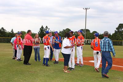 TCHS Senior Night Baseball 2012