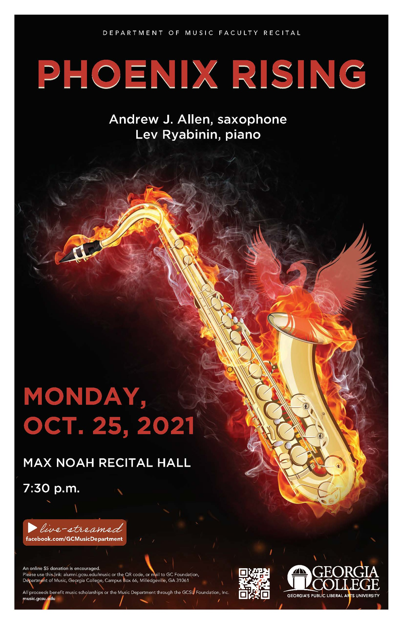 Please join us on Oct. 25 for this recital.