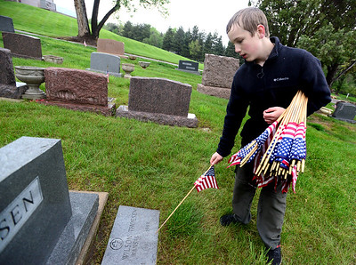 Memorial Day Flags on Vets Graves