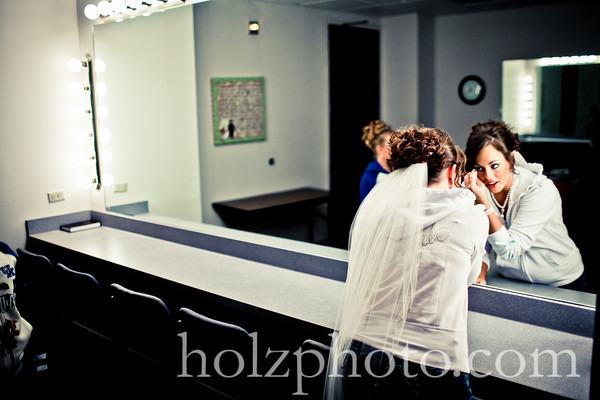 Kristi and Derek Creative Wedding Photos
