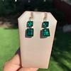 Georgian Double Drop Emerald Paste Earrings 21