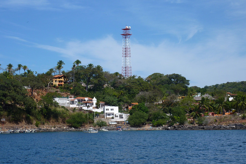 Closer view of Chacala. Most of the visible buildings are rental houses/hotels/bed and breakfasts.