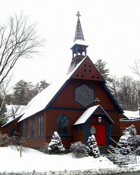 4.24.2015.Spring snowfall - St Luke's Church,april 9, 2015.CIMG9700.JPG