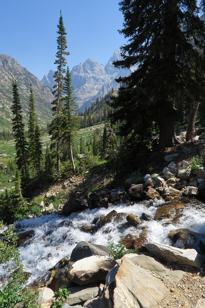 Heading up North Cascade Canyon, the waterfalls were equally impressive.