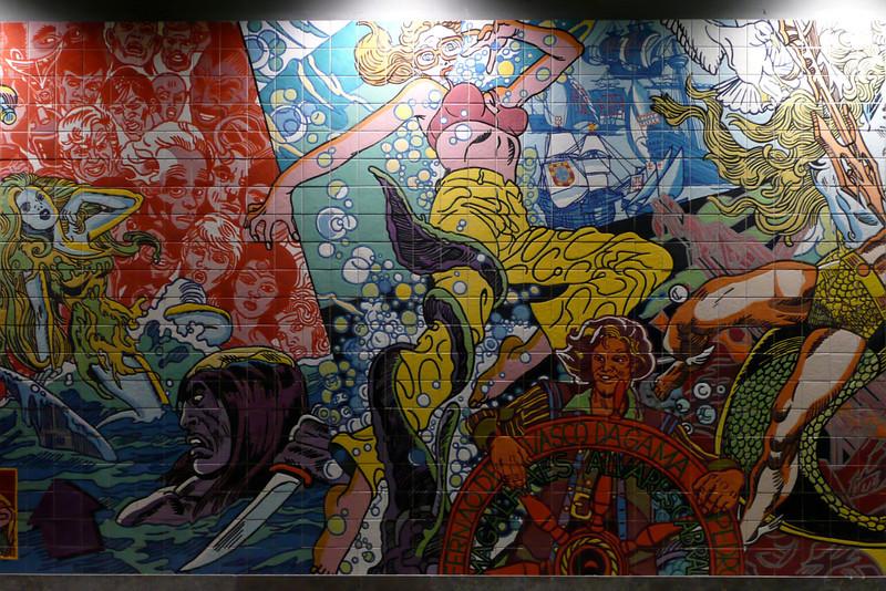 Oriente Metro Station. Lisbon