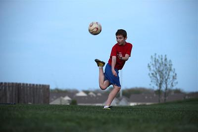 thomas soccer- practice kicks