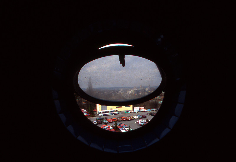 this is the view from the men's room on the fourth floor of the Leica Factory in Wetzlar.