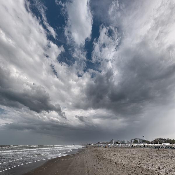 Beach - Milano Marittima, Cervia, Ravenna, Italy - April 24, 2019 01