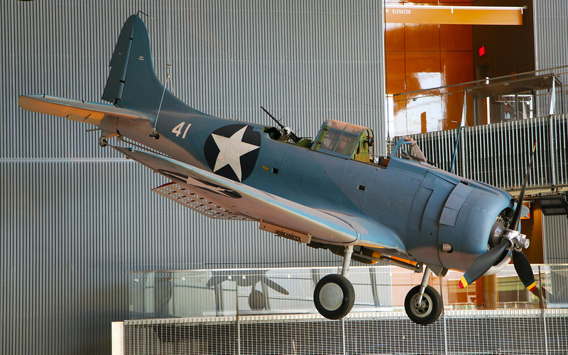 The Douglass Dauntless dive bomber.