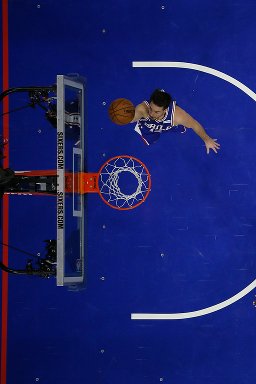. Philadelphia 76ers\' T.J. McConnell in action during an NBA basketball game against the Cleveland Cavaliers, Monday, Nov. 27, 2017, in Philadelphia. (AP Photo/Matt Slocum)