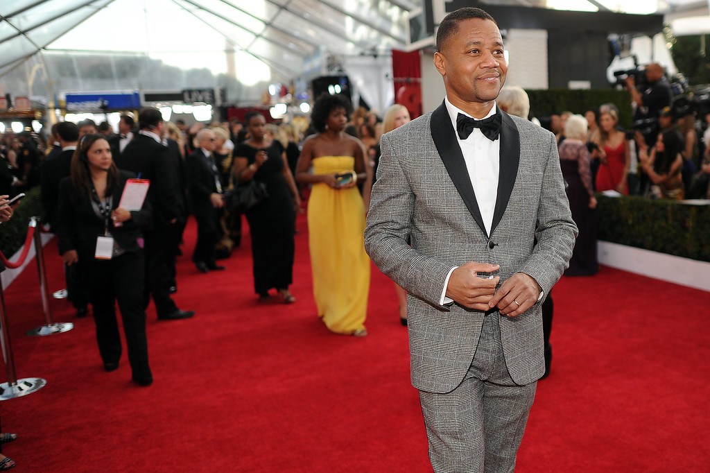. Cuba Gooding Jr. on the red carpet at the 20th Annual Screen Actors Guild Awards  at the Shrine Auditorium in Los Angeles, California on Saturday January 18, 2014 (Photo by Hans Gutknecht / Los Angeles Daily News)