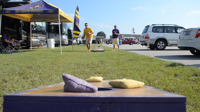 9/8 Preston & JG playing corn hole.