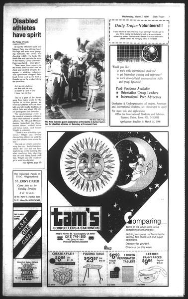 Daily Trojan, Vol. 111, No. 37, March 07, 1990