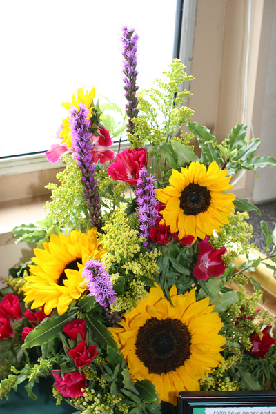 flowers in the lounge