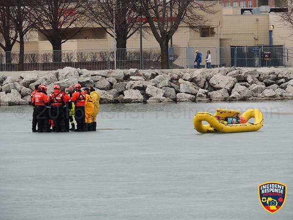 Ice rescue training on February 28, 2016