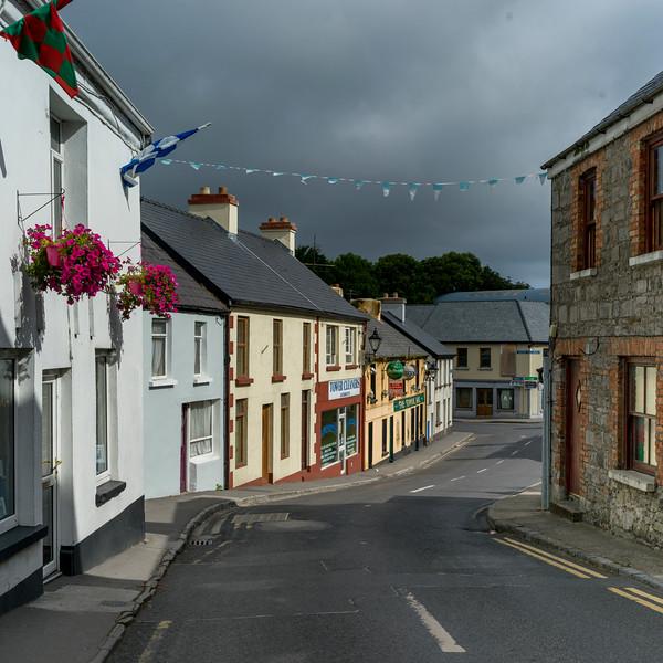 Houses along street, Killala Town, Killala, County Mayo, Republic of Ireland