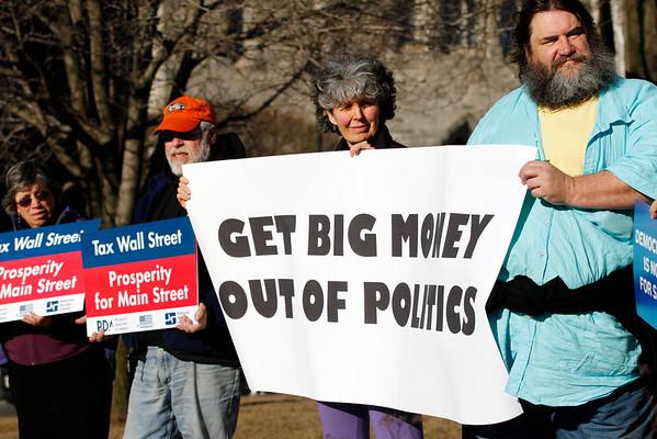 Supreme Court Campaign Spending Protest at Park Square-040214