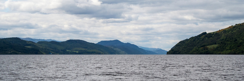 Looking west on Loch Ness, second largest lake in Scotland.
