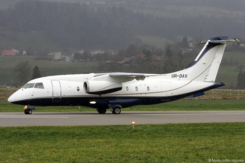 UR-DAV Do328 Jet Aerostar @ Bern Switzerland 13Dec09