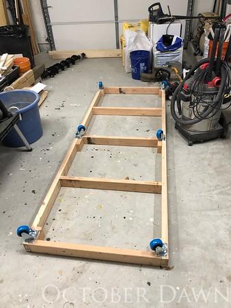 Rolling Wood Storage Cart
