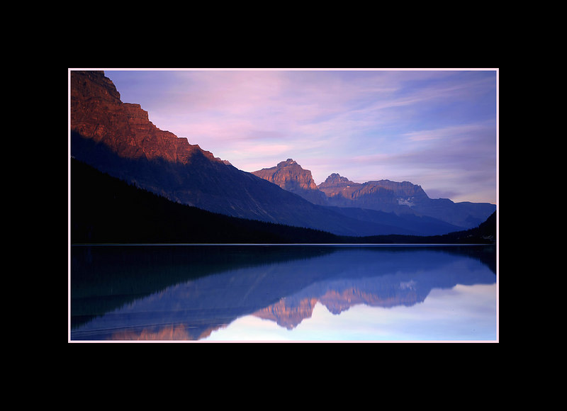 Sunset over Lower Waterfowl Lake, Banff National Park