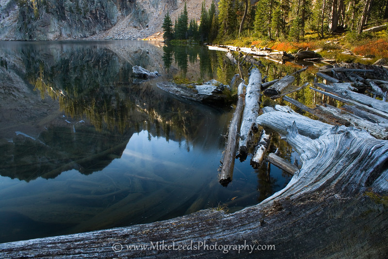 Upper Cramer Lake in the Sawtooth Mountains Idaho