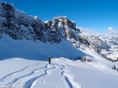 Rauflihorn ski tour, Diemtigtal 2013-02-16