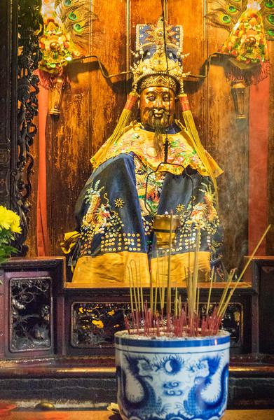 Incense in Blue Vase