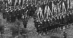 Union Infantry on parade in camp