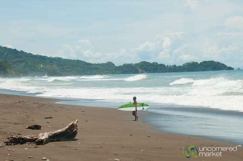Young Surfer at Dominical Beach - Costa Rica