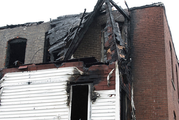 06/25/19 Wesley Bunnell   Staff A fire broke out at a three floor residence at 39 South Whiting St in New Britain on Monday June 24, 2019 at approximately 8pm with firefighters on the scene until approximately 4am Tuesday morning. A portion of the damaged covered staircase on the third floor of the building.