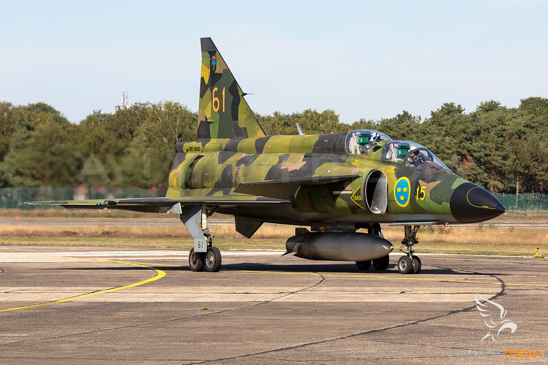 The mighty Viggen at the Spotterday for the Sanicole Airshow 2019