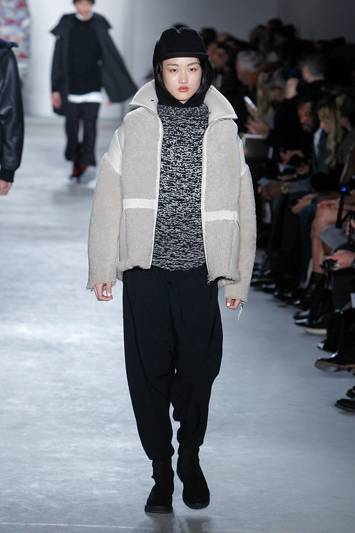 . The Public School Fall 2015 collection is modeled during Fashion Week on Sunday, Feb. 15, 2015, in New York. (AP Photo/Mark Von Holden)