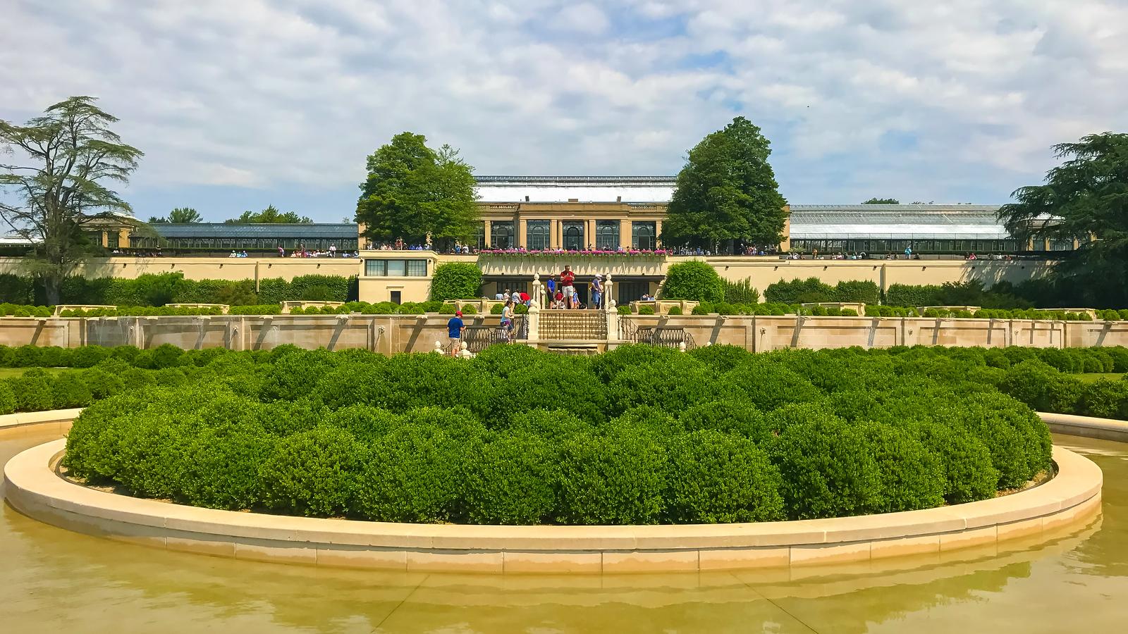 费城长木公园,崭新的喷泉花园